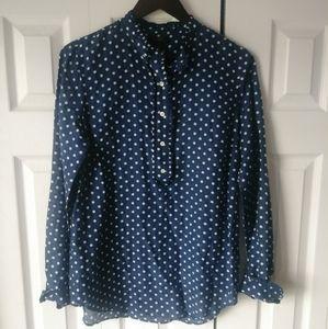 🌸3/$30🌸 J.Crew long sleeve silk blend blouse